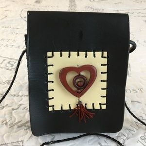 Handbags - c- SASSY & CHIC leather mini CROSS BODY fold over